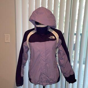 North Face women's winter coat/jacket purple fuzzy